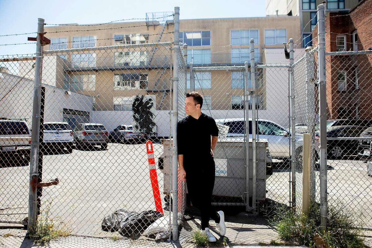 A portrait of Jon Dishotsky, CEO of Starcity, outside the site of Starcity�s new development site along Minna Street off of Mary Street on Wednesday, July 3, 2019, in San Francisco, Calif. Starcity is a a co-living development company.
