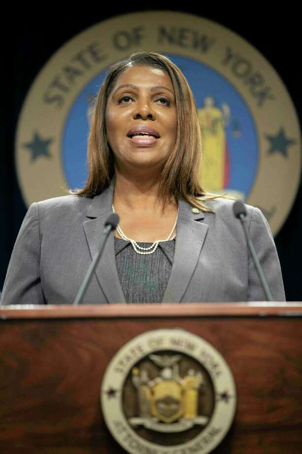 New York Attorney General Letitia James (AP Photo/Mary Altaffer) Photo: Mary Altaffer / Copyright 2019 The Associated Press. All rights reserved.