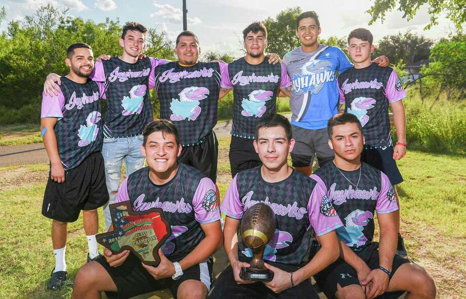 The Laredo Jayhawks won the Texas State Hispanic Championship Class C Division as they defeated Hateful 33-12 on June 30. Photo: Danny Zaragoza /Laredo Morning Times
