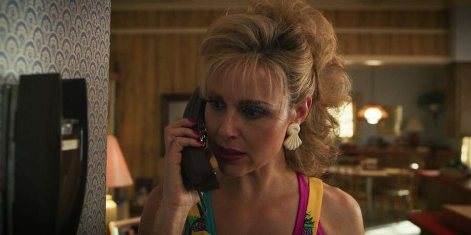 Karen Wheeler, Mike's mom (actress Cara Buono), forgets that when you spy on someone via phone extension you need to stay quiet. Photo: Netflix