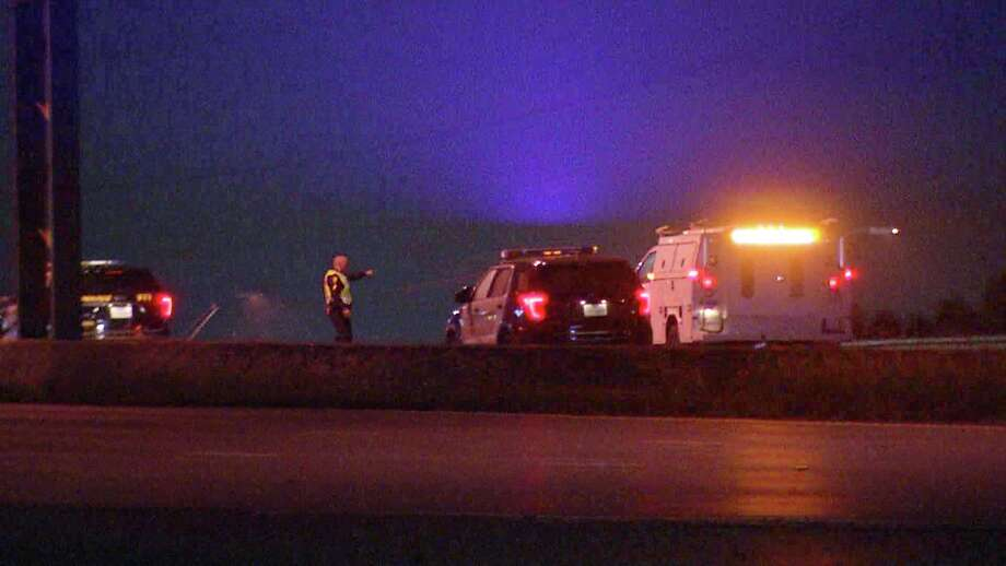 A man was killed after being struck by multiple vehicles while walking along I-37, according to the San Antonio Police Department. Photo: Ken Branca