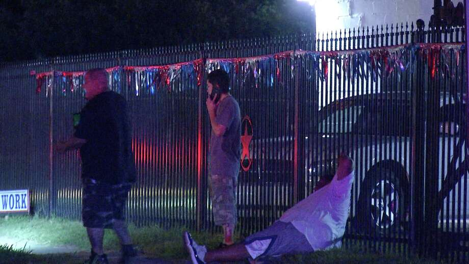 Two local men were nearly killed after a truck slammed into the back of their stalled vehicle overnight, according to the San Antonio Police Department. Photo: Ken Branca