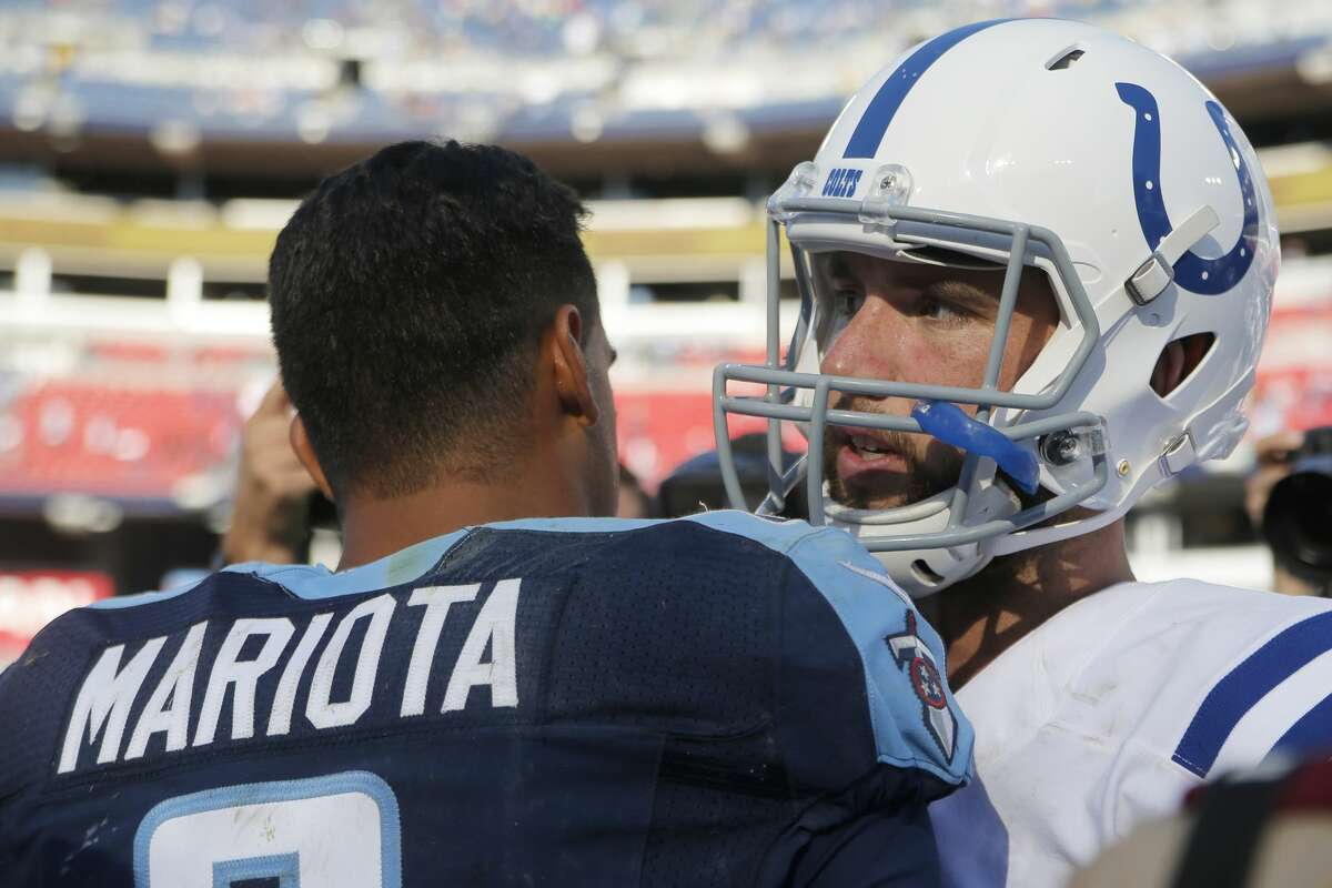With Colts quarterback Andrew Luck getting plenty of rest for this season and Marcus Mariota's terrific offseason with the Titans, the AFC South should be the best and most competitive division in the NFL. (Photo by Jeffrey Brown/Icon Sportswire via Getty Images)