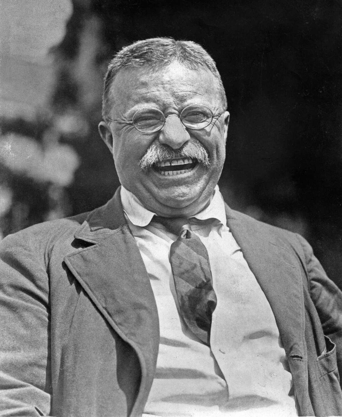 This photo provided by Brown Brothers shows Teddy Roosevelt at his Oyster Bay, N.Y., home in 1912. This president railed against corporations and the inequity they spawned - a theme Democratic presidential candidates are echoing.
