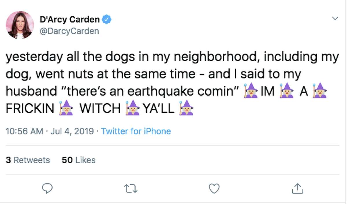 Celebrities and other Twitter users were shocked by the Southern California earthquake Thursday morning.