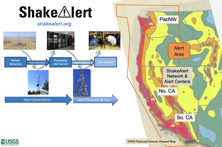 California is still in the testing stages of using ShakeAlert, an app that lets residents know a large earthquake has begun in their area. Photo: USGS