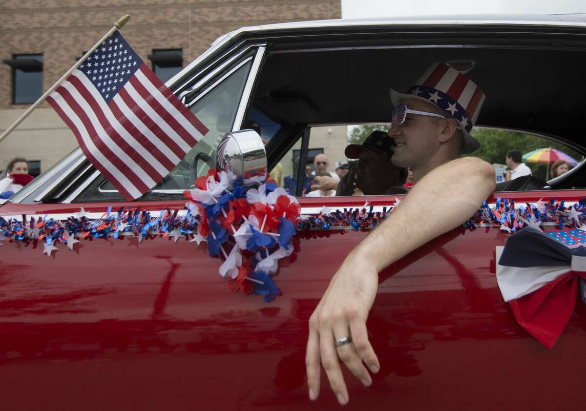 Hundreds gather to celebrate the City of Bellaire Fourth of July Parade and Festival at Bellaire Town Square on Thursday, July 4, 2019, in Houston.