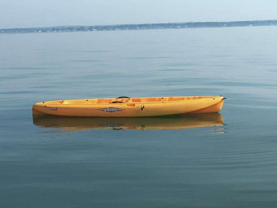 Kayak found off the shores of Guilford, Conn., on Thursday, July 4, 2019. Photo: Contributed Photo / U.S. Coast Guard Long Island Sound Sector