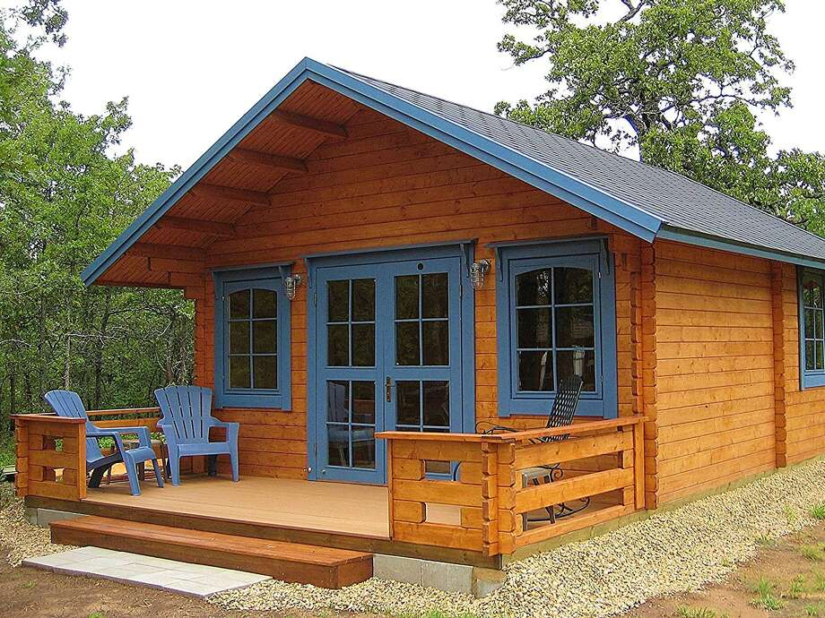 "This is one of the tiny homes for sale on Amazon — a build-it-yourself kit for a ""getaway cabin."" Photo: Allwood Outlet"