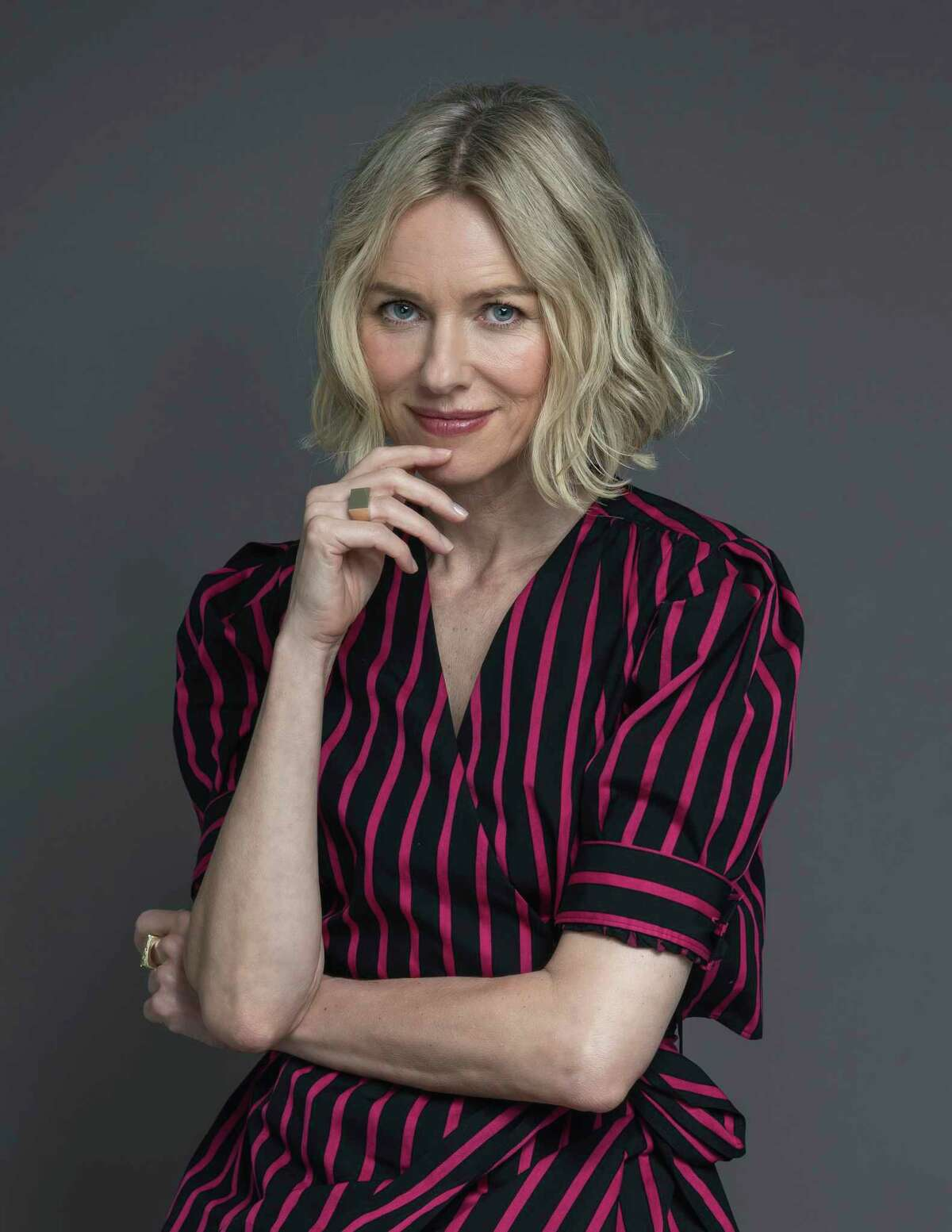 This June 17, 2019 photo, actress Naomi Watts poses for a portrait in New York. Watts stars in the film ?Ophelia,? and the Showtime series ?The Loudest Voice,? based on the rise of Fox News and fall of Roger Ailes. (Photo by Christopher Smith/Invision/AP)