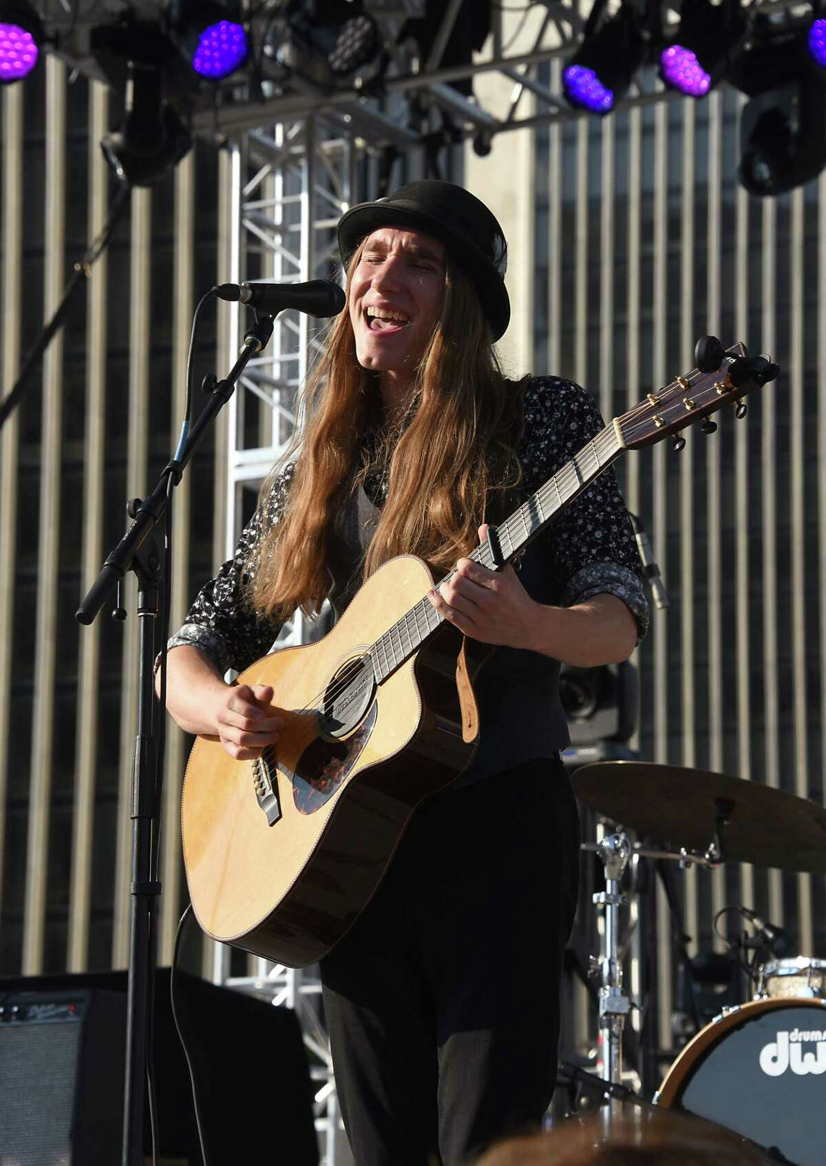 Sawyer Fredericks, winner of the eighth season of The Voice in 2015, performs during the 44th annual Independence Day celebration at the Empire State Plaza on Thursday, July 4, 2019 in Albany, N.Y. (Lori Van Buren/Times Union)