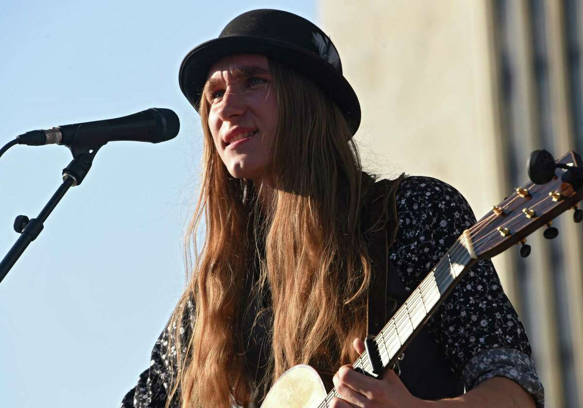 """Sawyer Fredericks: """"Quarantine isn't great and I miss my bandmates, but the sharing of music that's happening online and this sense of community makes such a difference for all of us."""" (Lori Van Buren/Times Union) (Lori Van Buren/Times Union)"""