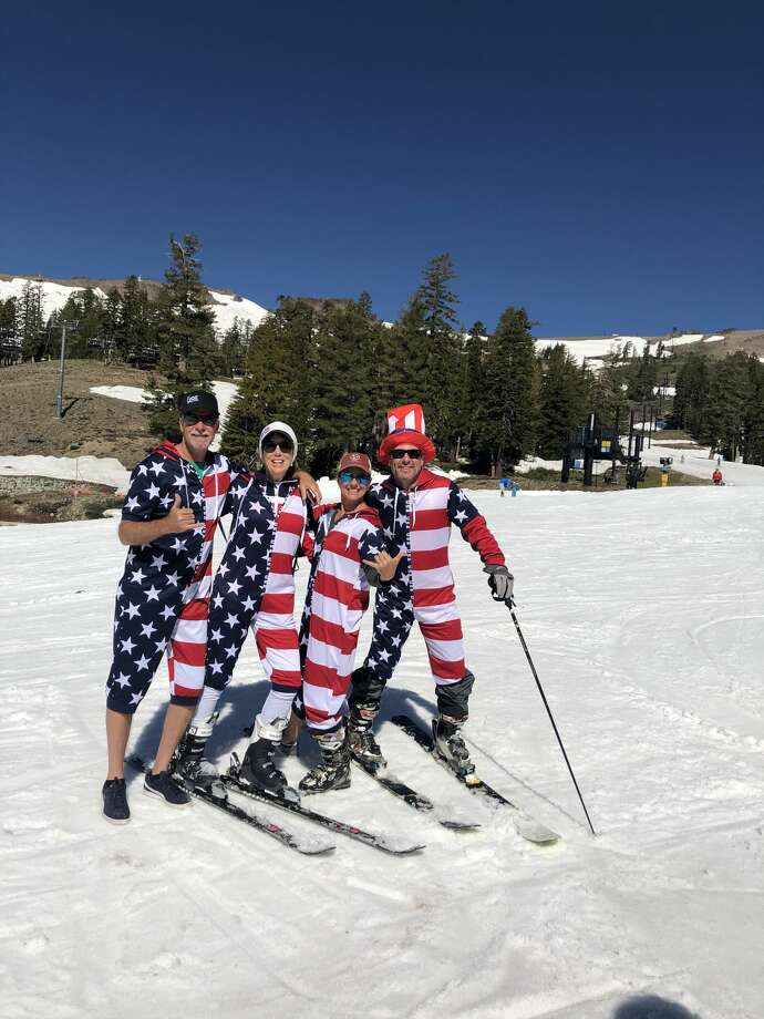 After its third-snowiest season on record, Squaw Valley still had slopes open for skiing on July 4, 2019. Photo: Courtesy Squaw Valley Alpine Meadows