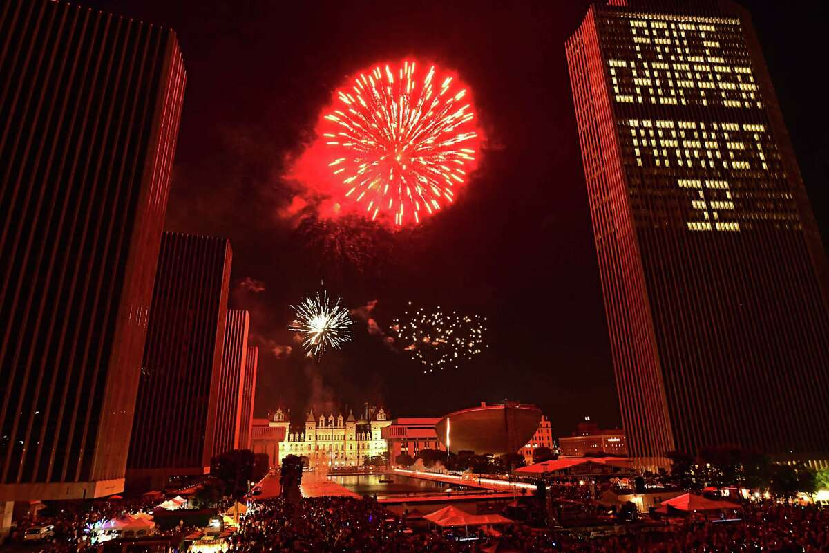 New York State and Price Chopper/Market 32 presents the 44th annual Independence Day celebration with fireworks at the Empire State Plaza on Thursday, July 4, 2019 in Albany, N.Y. (Lori Van Buren/Times Union)