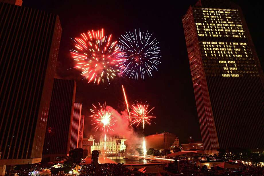 New York State and Price Chopper/Market 32 presents the 44th annual Independence Day celebration with fireworks at the Empire State Plaza on Thursday, July 4, 2019 in Albany, N.Y.  (Lori Van Buren/Times Union) Photo: Lori Van Buren, Albany Times Union / 20047305A