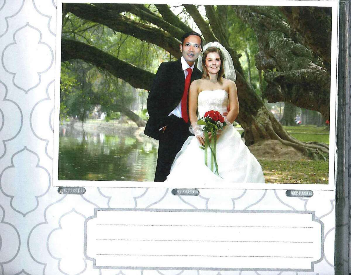 Photo from a wedding album of Nam Phuon Hoang and Brandy Lynn Esley. Photo albums were submitted as evidence by federal prosecutors.