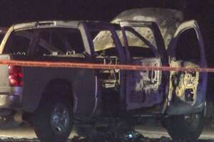 Harris County Sheriff's Office deputies respond to a road rage shooting that ignited fireworks inside a family's car late Thursday, July 4. The children inside the car, ages 1 and 2, were severely burned.
