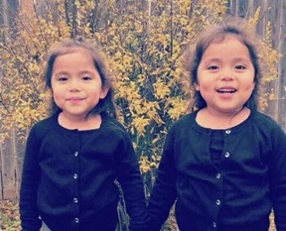 Odessa twins Mya, left, and Mia Coy were transported to Medical Center Hospital, where they died after being struck by accused drunken driver,Angelica Garcia. Photo: Courtesy Of Brandy Douthit