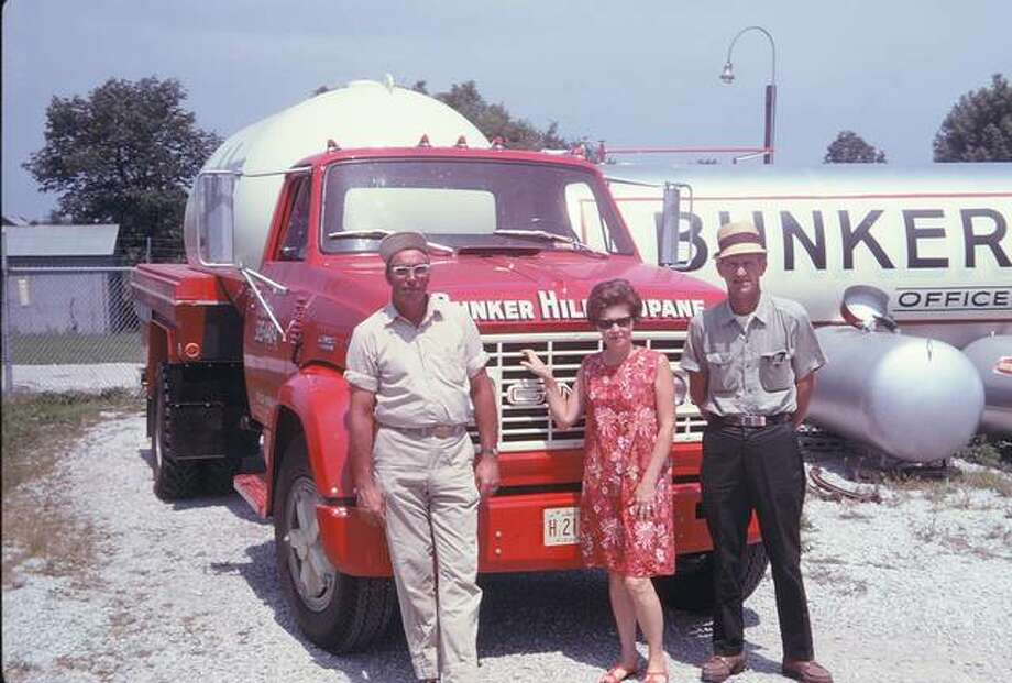 Rull Bros Propane is marking 70 years in business, and 35 years of leadership by Stan and Steve Rull. The business was started in 1949 by Chester and Dorothy Rull. This vintage photo of the business includes, from left, Vernon Bertels, Joey Carnahan, and Bill Rull, Chester Rull's brother.