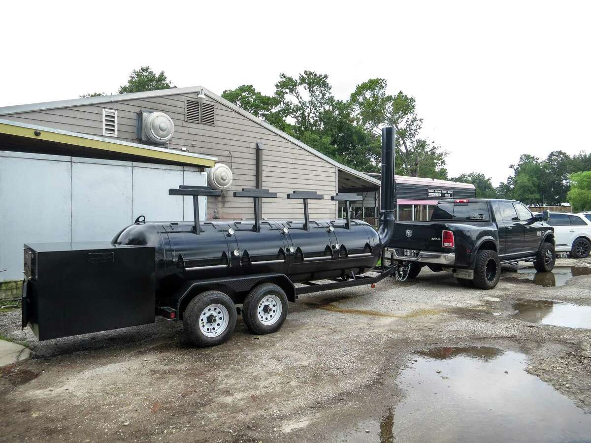 Potential thieves are driving around in a truck with a trailer hitch ball mount and seeing an unsecured barbecue trailer may be too much of a temptation to pass up.