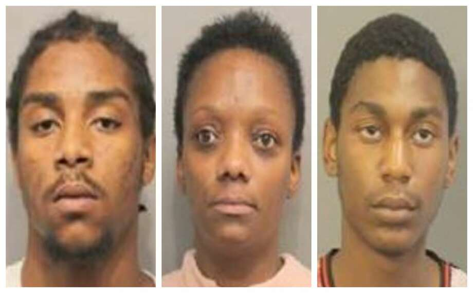 Denzel Cliffton Jvon Taylor (left), Jennifer Walker and Agustin Emmanuel Erick Smith (right), were each charged with trafficking of persons, a first degree felony. Photo: Montgomery County Sheriff's Office