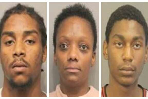 Denzel Cliffton Jvon Taylor (left), Jennifer Walker and Agustin Emmanuel Erick Smith (right), were each charged with trafficking of persons, a first degree felony.
