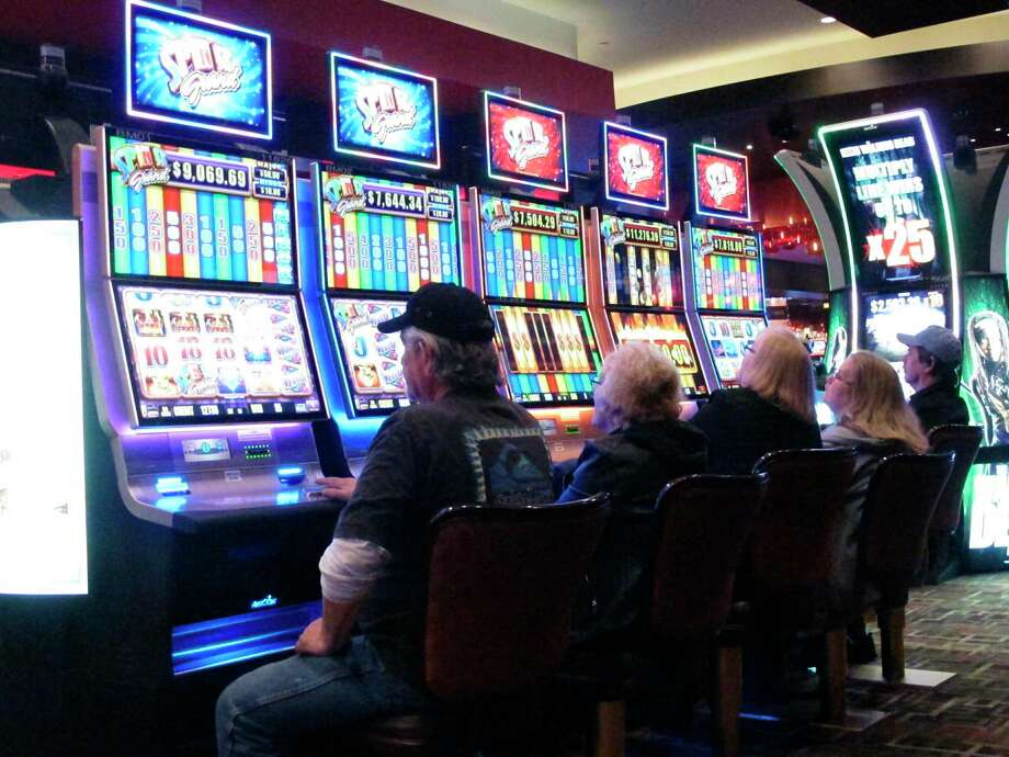 This Feb. 22, 2019, photo shows gamblers playing slot machines in the Golden Nugget casino in Atlantic City, N.J. Photo: Wayne Parry / Associated Press / Copyright 2019 The Associated Press. All rights reserved.