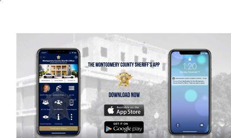 The Montgomery County Sheriff's Office has introduced an app for residents to receive notificaionsand access website features on their mobile device. Photo: Courtesy Of The Montgomery County Sheriff's Office