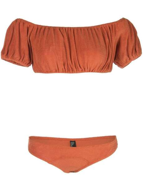 Lisa Marie Fernandez Leandra cloth bikini; $350, The Webster