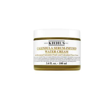 Kiehl's cult calendula line expands with Calendula Serum-Infused Water Cream, its first leave-on cleanser, toner and mask providing long-lasting hydration; $45 at Kiehl's Highland Village and The Woodlands Mall.