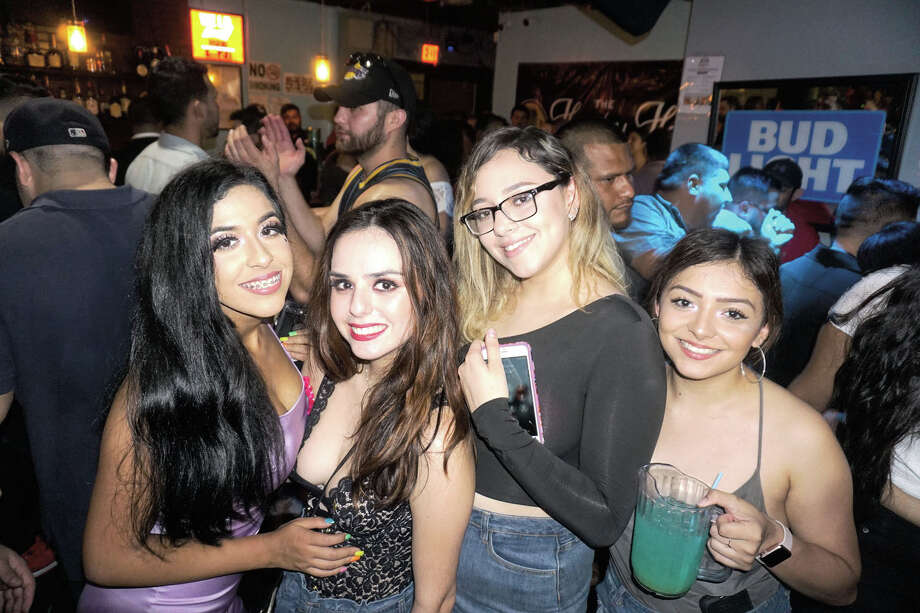 Icela Villagomez, Dora Rangel, Dora Tello and Bella Rodriguez at The Happy Hour Downtown Bar Photo: Jose Gustavo Morales