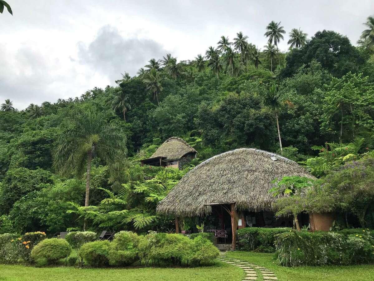 Vanira Lodge is perched on a mountainside in Tahiti Iti.