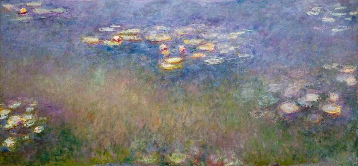 """""""Water Lilies(Agapanthus),"""" c.1915-26 is among the masterpieces on view in """"Monet: The Late Years,"""" June 13-Sept. 15 at the Kimbell Art Museum in Fort Worth."""