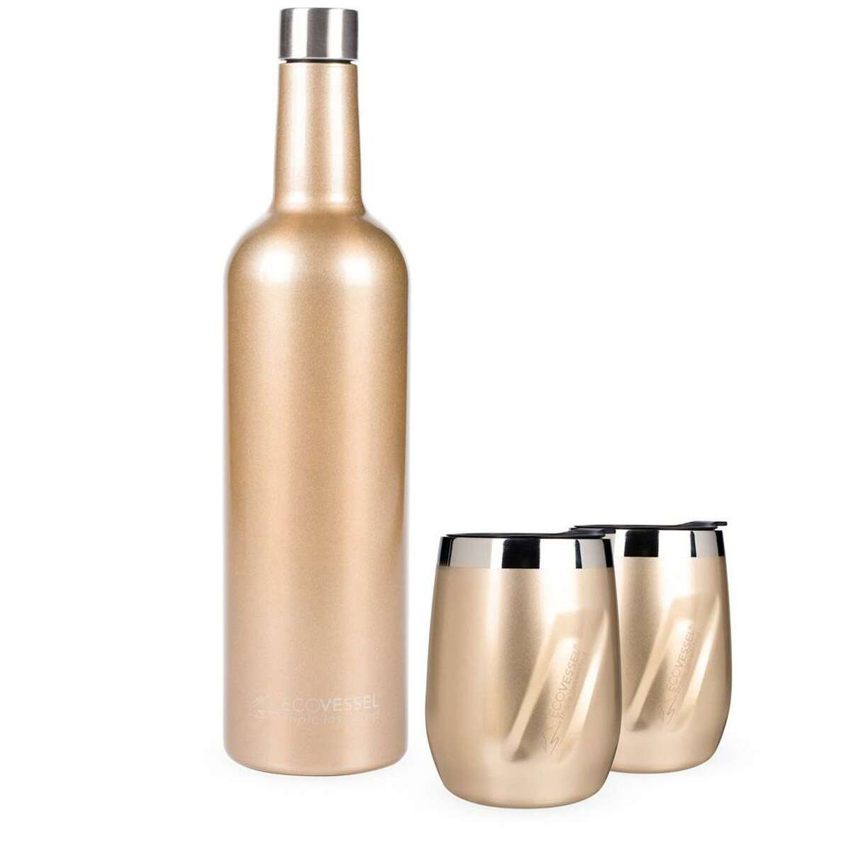 Eco Vessel's Port tumblers match an available insulated bottle.
