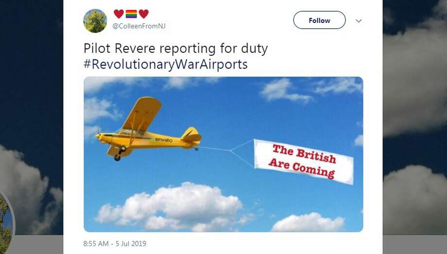 The internet blew up with hilarious #RevolutionaryWarAirportStories