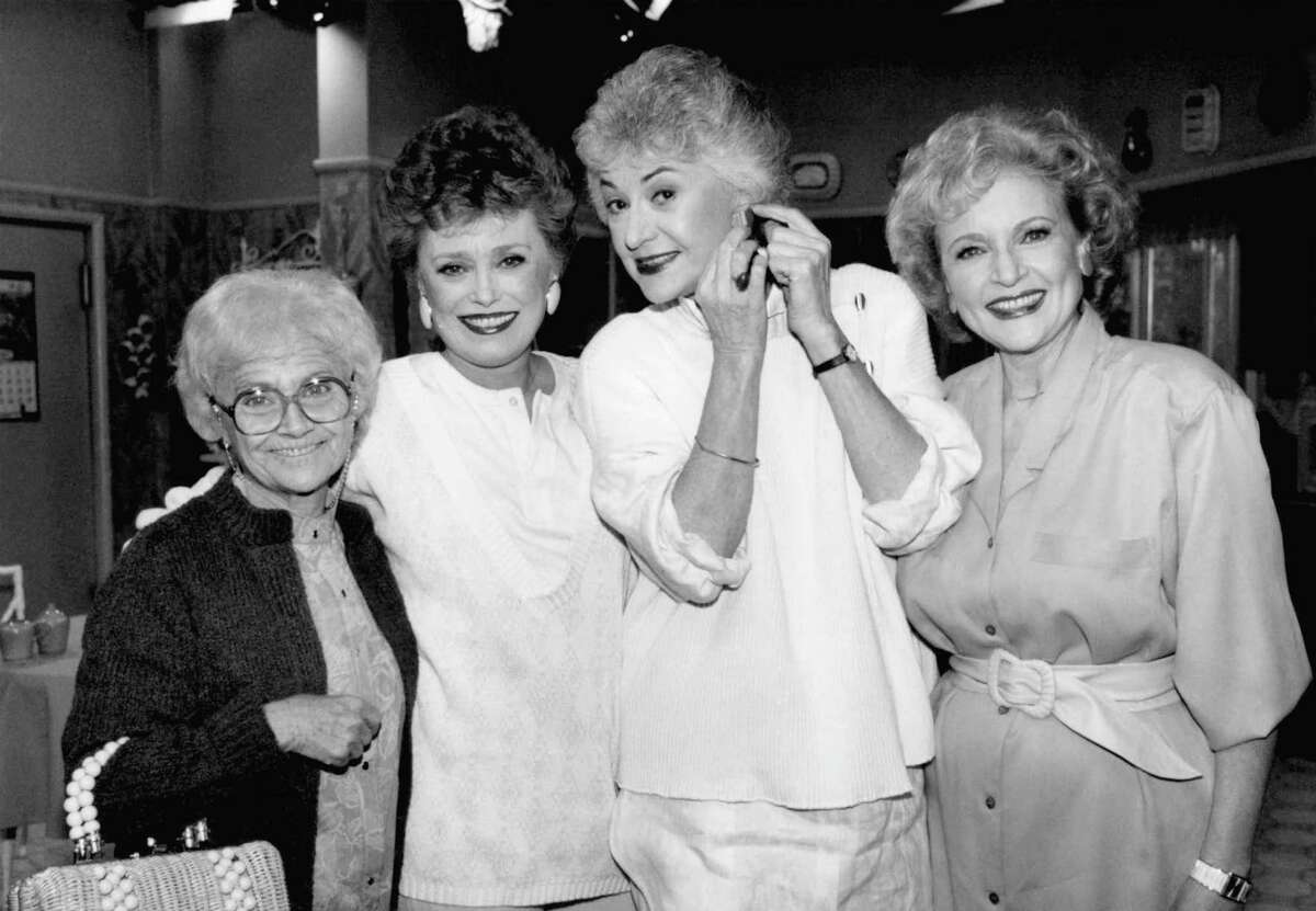 FILE - This Dec. 25, 1985 file photo shows the stars of the television series