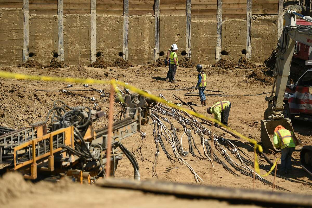 A general view of a residential construction site at the Hanover-Diridon development project at the intersection of Julian and Stockton streets on July 5, 2019 in San Jose, CA.