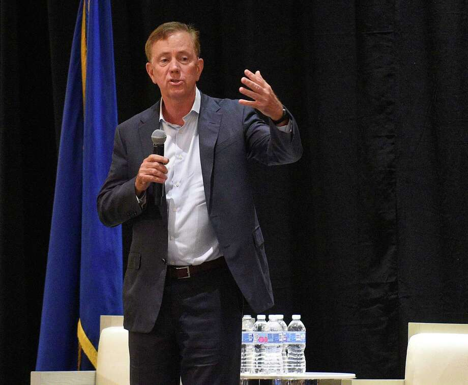 Connecticut Governor Ned Lamont answers questions from business leaders following his keynote speech at the Business Council of Fairfield's annual meeting at the Stamford Hilton on June 27, 2019 in Stamford, Connecticut. Photo: Matthew Brown / Hearst Connecticut Media / Stamford Advocate