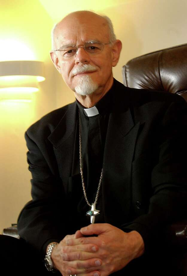 Bishop Peter Rosazza in his Sherman Avenue residence. Photo: Hearst Connecticut Media File
