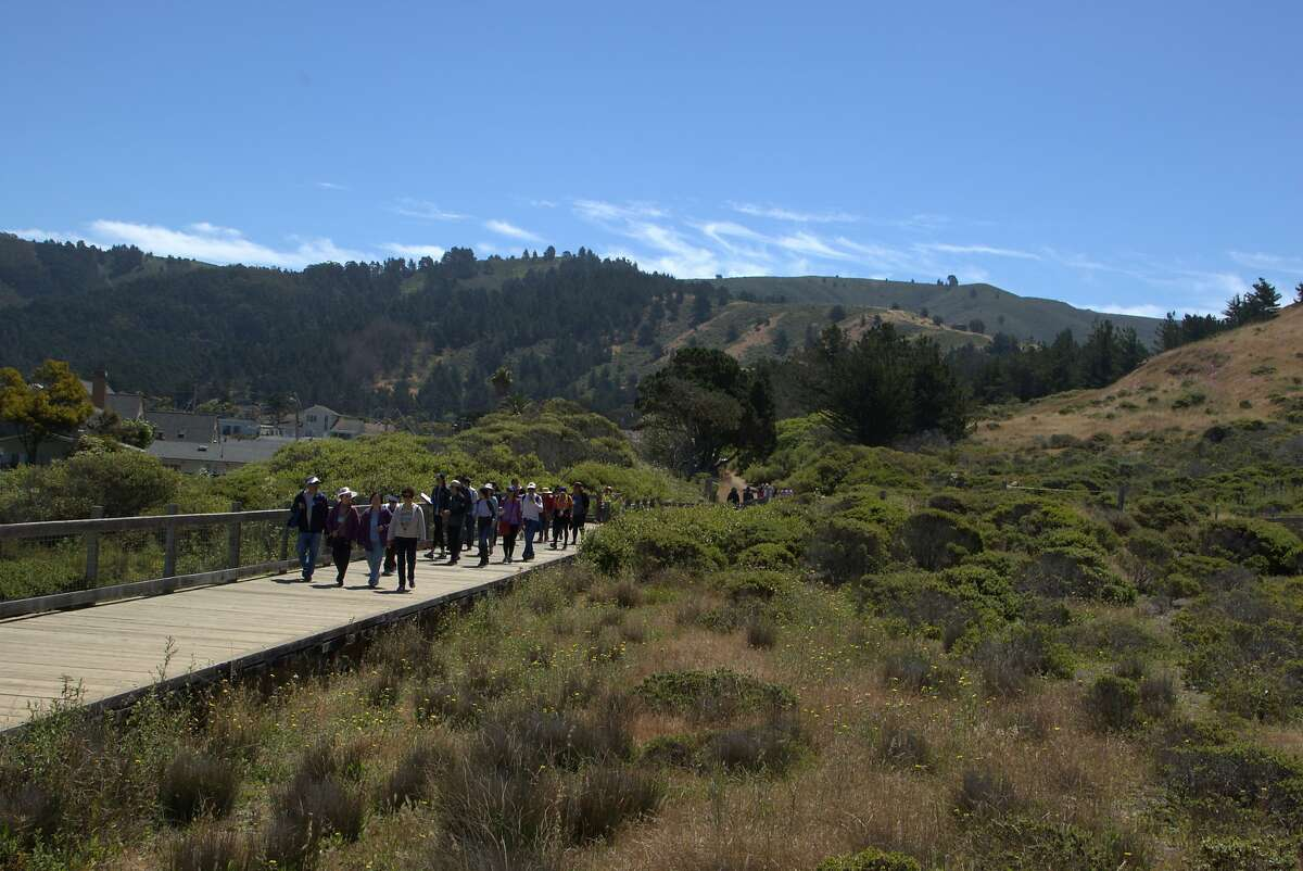 A file photo of Mori Point, a 110-acre site in Pacifica.