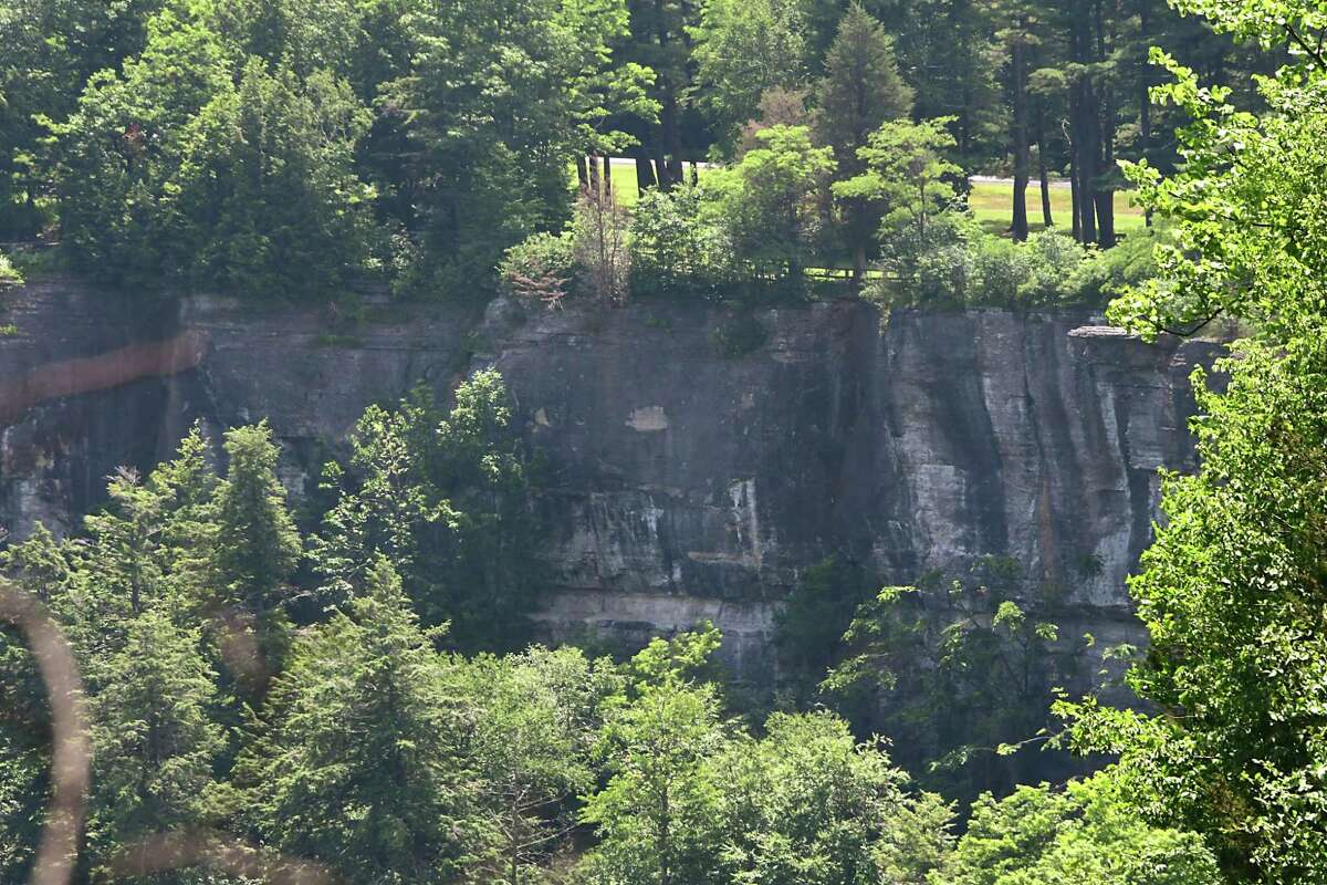 Cliffs are seen at the John Boyd Thacher State Park on Friday, July 5, 2019 in New Scotland, N.Y. (Lori Van Buren/Times Union)