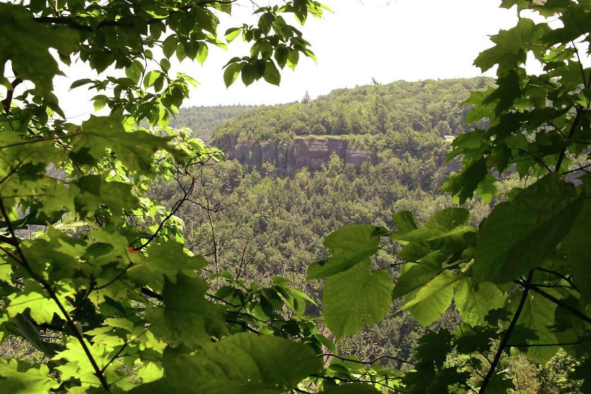The Escarpment at John Boyd Thacher State Park on Friday, July 5, 2019 in New Scotland, N.Y. (Lori Van Buren/Times Union)