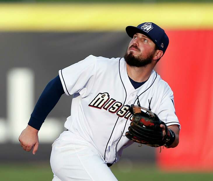 Missions second baseman Blake Allemand follows a pop up. Allemand just came off the disabled list on Monday, July 1,2019.