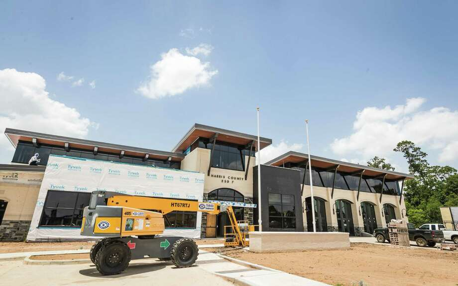 The construction of Spring Fire Department's new Station 74 is expected to be complete this summer. Firefighters may begin operating out of the new facility in July 2019. Photo: Joe Buvid, Spring Fire Department, Spring Fire Department / Contributor / © 2019 Joe Buvid