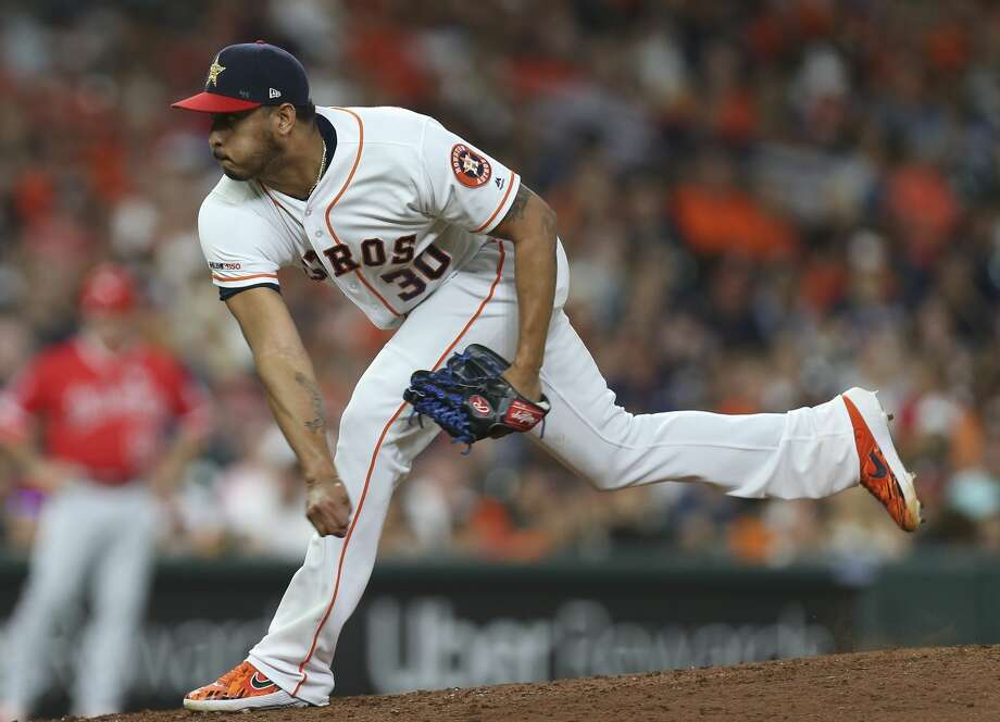 Astros to use reliever Hector Rondon as opener against Angels