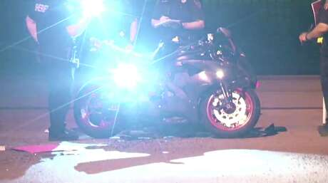 A 24-year-old motorcycle driver was killed late Friday evening after colliding with another vehicle in west Harris County, officials said.