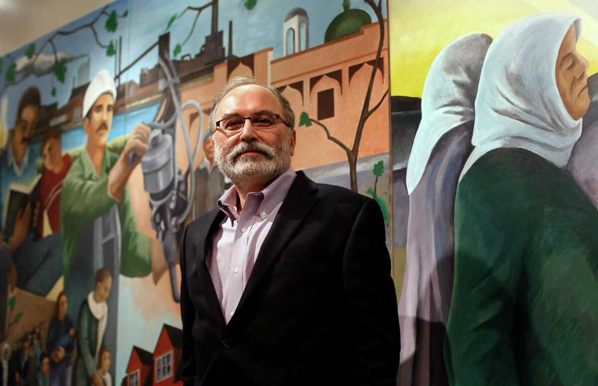 Hassan Jaber, executive director of ACCESS and a former member of a census advisory board on racial and ethnic populations, is shown in Dearborn, Mich., Thursday, Jan. 29, 2015. Arab Americans seeking to be counted by the Census are making progress on the policy front but still face political and public obstacles.