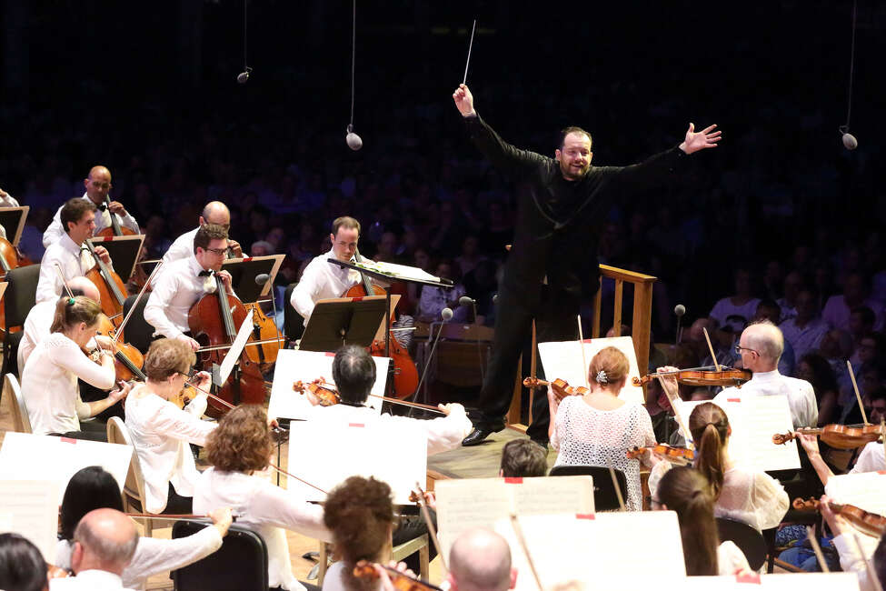 Andris Nelsons and the Boston Symphony Orchestra perform Friday, July 5, 2019, in Lenox, Mass.
