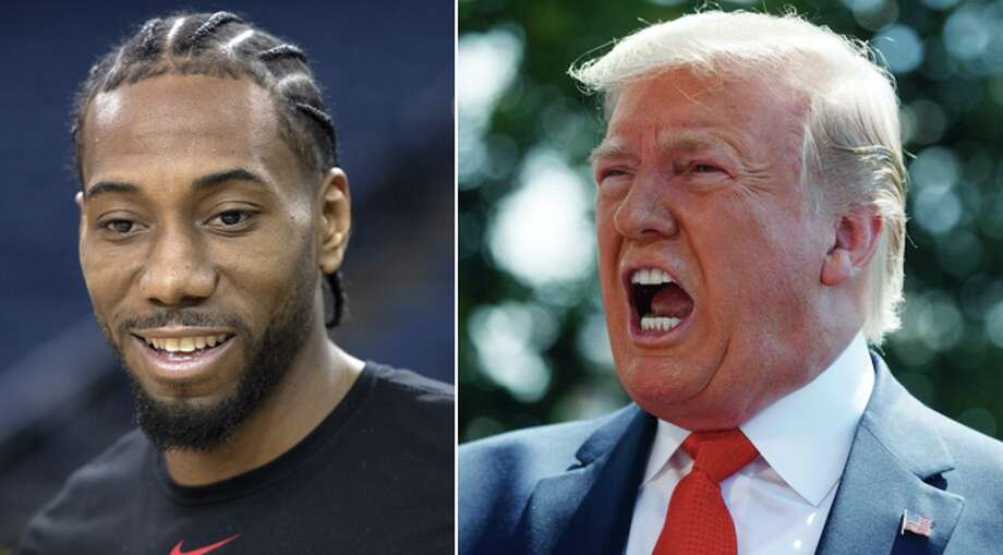 President Donald Trump took to Twitter to react to Kawhi Leonard going to the Clippers. Photo: Frank Gunn/Evan Vucci/Associated Press
