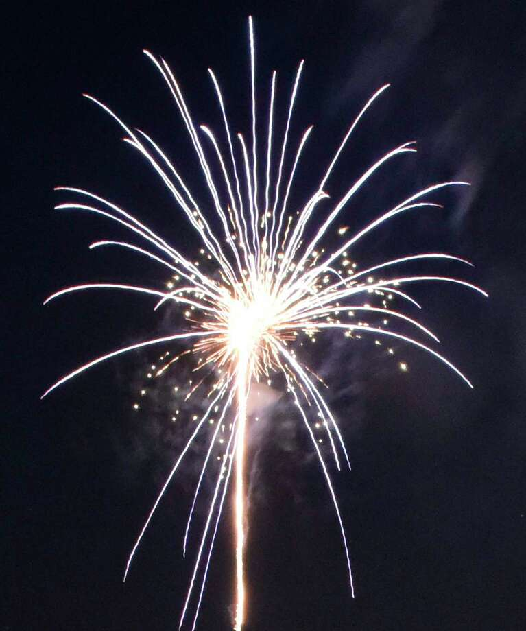 Greenwich's annual fireworks displays, postponed Saturday due to weather concerns, will take place in Binney Park and Greenwich Point Park Sunday night. Photo: Tyler Sizemore / Hearst Connecticut Media / Greenwich Time